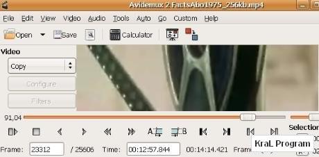 Avidemux 2.5.3 Video duzenleyici