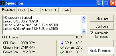 SpeedFan 4.41 Bilgisayar�n fan h�z�n� kontrol eden program