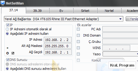 NetSetMan 3.0.3 Otomatik network ayarlayıcı