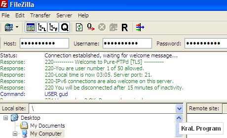 FileZilla 3.3.3 RC 1 Ücretsiz ftp yazılımı