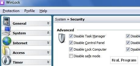 WinLock 5.11 Windows eri�im engelleyici
