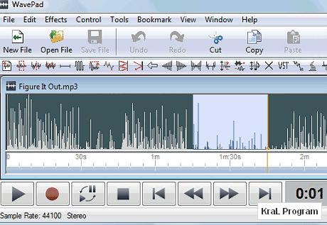 WavePad 4.45 Gelişmiş ses düzenleyicisi