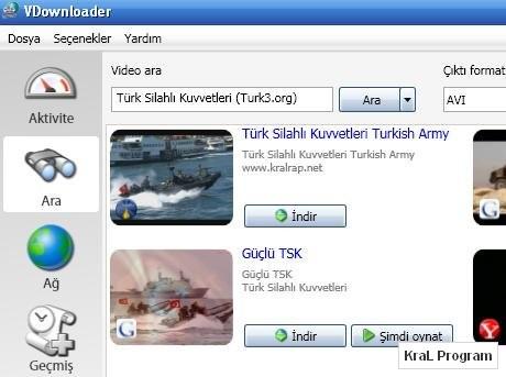 VDownloader 2.9 Video indirme programı (Türkçe)