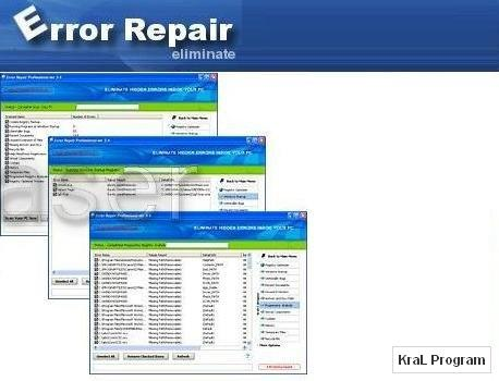 Error Repair 4.2.2 Bilgisayar hatalar�n� d�zelten program