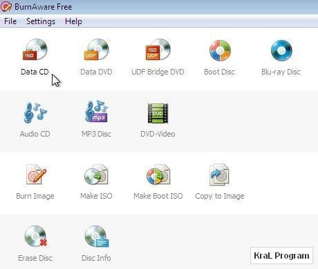 BurnAware 3.0.1 CD/DVD yazma programı