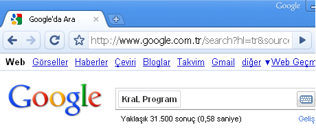 Google Chrome 6.0.466.0 Web tarayıcı