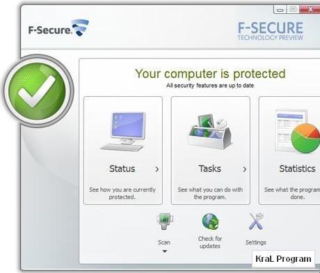 F-Secure Internet Security 2011 Antivirüs programı