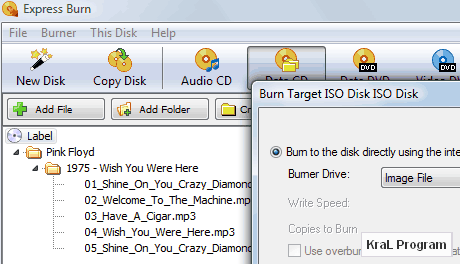 Express Burn 4.39 Cd-Dvd yazıcı