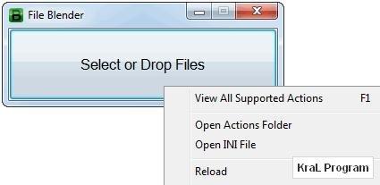 File Blender 0.25 Dosya dönüştürme ve düzenleme