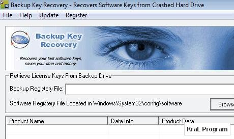 Backup Key Recovery 1.3.7 �ifre kurtarma program�