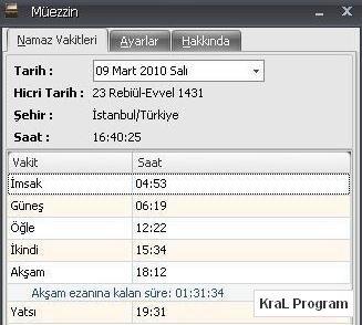Muezzin 1.2 Namaz vakitleri programi