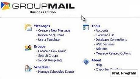 GroupMail Free Edition 5.2.0.88 Toplu mail programı