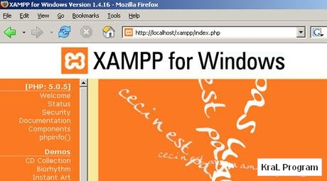 XAMPP 1.7.4 Web sunucusu kurma programı