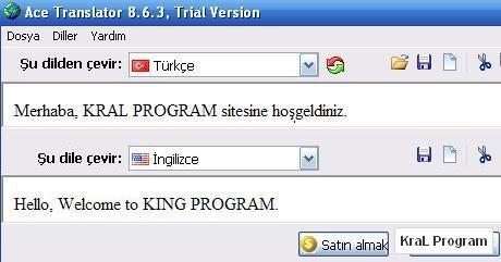 Ace Translator 8.6.5.0 Çeviri programı