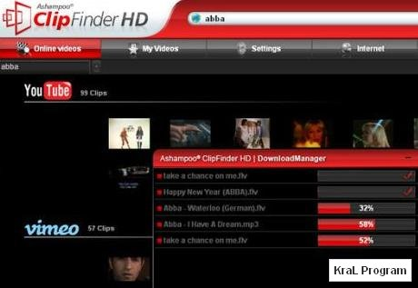 Ashampoo ClipFinder HD 2.15 Video indirme programi