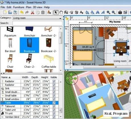 Sweet Home 3D 3.1 Bedava 3 boyutlu ev cizim programi