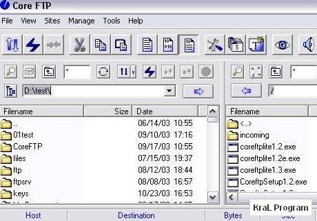 Core FTP Lite 2.1.1673 Ücretsiz ftp programı