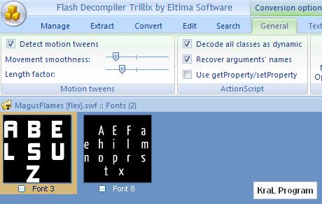 Flash Decompiler Trillix 5.1.1140 SWF & FLA dönüştürücü