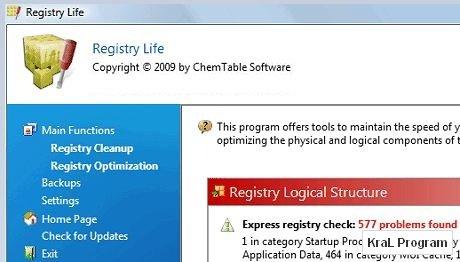 Registry Life 1.50 Windows kayıt defteri düzenleyici