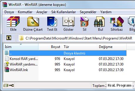Winrar - Dosya arşivleme programı